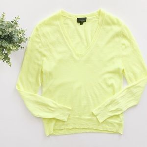 J.Crew Collection Neon Yellow Cashmere Sweater